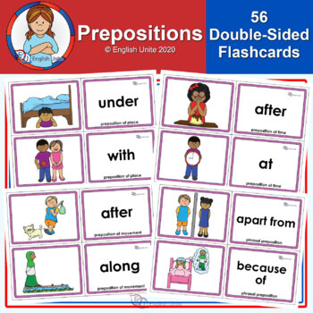 Flashcards Prepositions by English