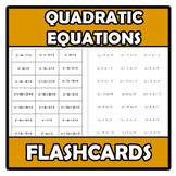 Flashcards - Quadratic equations - Ecuaciones de segundo grado