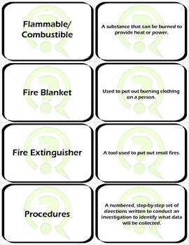 Flashcards: Scientific Method and Lab Safety