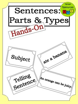 Flashcards - Sentences: Parts & Types - Hands On