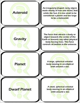 Flashcards: Space and Space Exploration