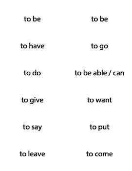 Flashcards - Spanish Irregular Verbs in the Present Tense - ser estar ir tener