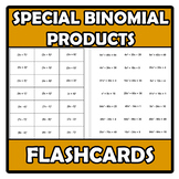 Flashcards - Special binomial products - Identidades notables