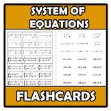 Flashcards - System of equations - Sistemas de ecuaciones