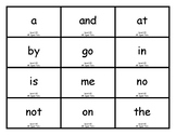 Flashcards - Teacher-made to correspond with SnapWords Set A
