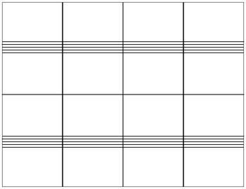 Flashcards Template for Note-reading by Orchestra Classroom | TpT
