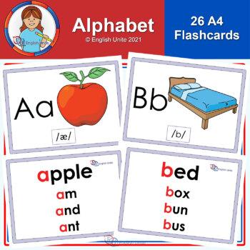 Flashcards – The Alphabet A4