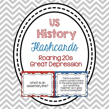 Flashcards- The Roaring 20s & The Great Depression