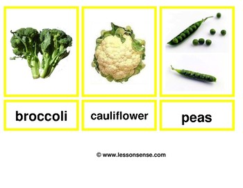 Flashcards Vegetables