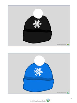 Winter Hats - Flash Cards