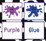 ESL: Kindergarten-Second. Colors=bright flashcards & creat