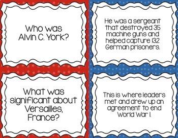 Flashcards- World War 1