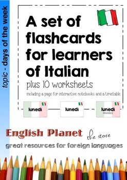 Flashcards and Activities to learn the days of the week in