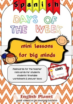 Days of the week in Spanish (flashcards & worksheets)