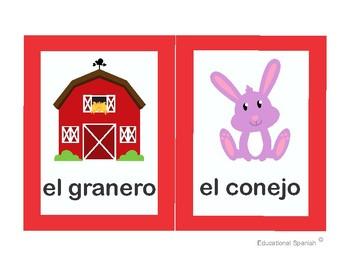 Flashcards animales granja / Farm animals