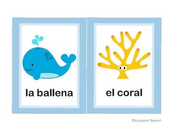 Flashcards animales mar / Sea animals