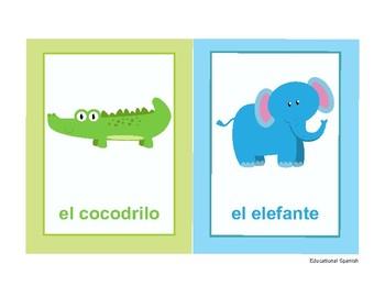 Flashcards animales zoológico / Zoo animals