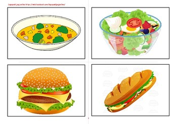Flashcards foods