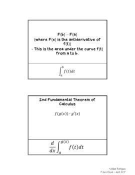 Flashcards for Calculus Review
