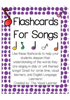 Flashcards for Children's Songs