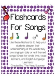 Flashcards for Children's Songs