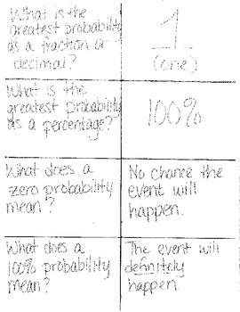 Flashcards for Compound Probability