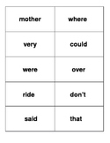 Flashcards for Fountas & Pinnell First 175 Words First Grade