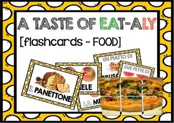 Flashcards for learners of Italian (FOOD / IL CIBO in Italian)