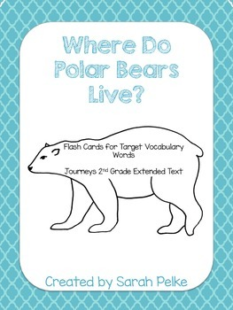 Flashcards for Journey's Where Do Polar Bears Live? Unit 4