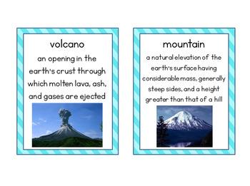 Flashcards for Landforms
