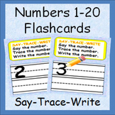 Numbers 1-20 - Flashcards - Say It, Trace It, Write It - Fun Practice