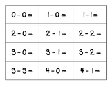 Flashcards for Subtraction to 5