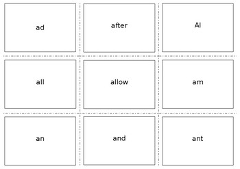 Flashcards for Systematic Sequential Phonics They Use