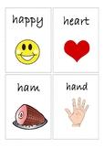 Flashcards for alphabet H