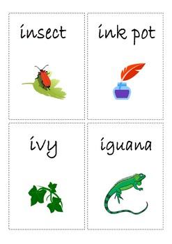 Flashcards for alphabet I