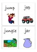 Flashcards for alphabet J