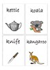 Flashcards for alphabet K