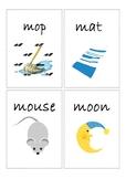 Flashcards for alphabet M