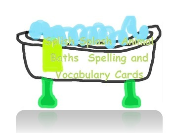 Flashcards for the 2nd Grade Treasures Story - Splish Splash Animal Baths