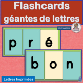 French: Flashcards géantes de lettres works with programs like Jolly Learning