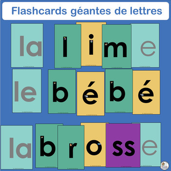 French: Flashcards géantes de lettres compléments Le manuel phonique.