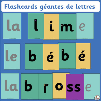 French: Flashcards géantes de lettres works well with Jolly Learning. (SASSOON)