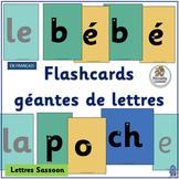 French: Flashcards géantes de lettres compléments Le manuel phonique. (SASSOON)