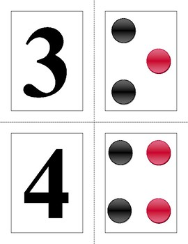 Flashcards learn the numbers with the quantities