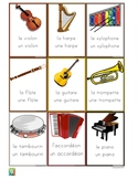 Flashcards musical instruments in French - Les instruments