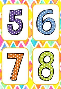 Flashcards numeration 0-10 pour l'été (summer time)