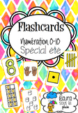 Flashcards numeration 0-10 pour l'été (summer time)