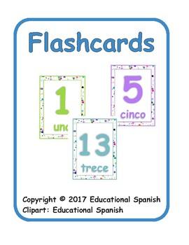 Flashcards números 1-20 / numbers 1-20
