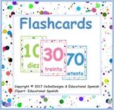Flashcards números 10 en 10 / numbers by 10 / Spanish numb