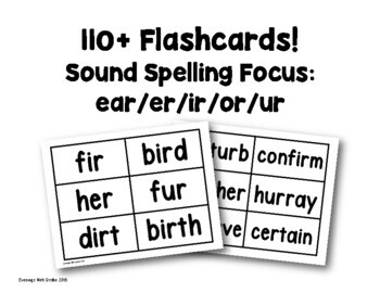 Flashcards (r-controlled words)